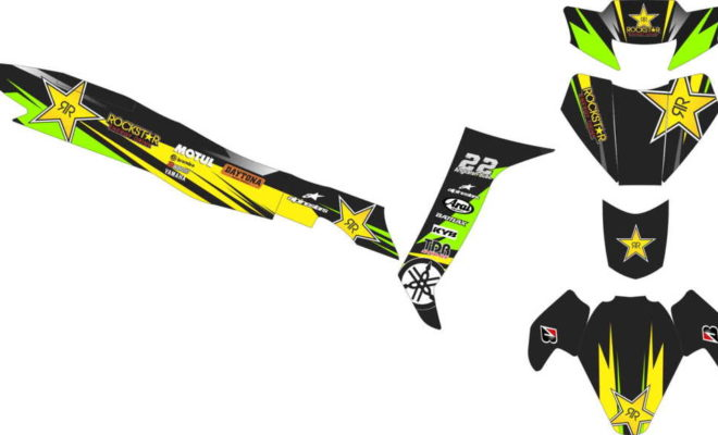Stiker FIZ R racing rockstar v2