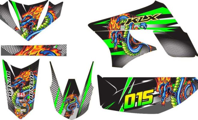 Stiker KLX dragon