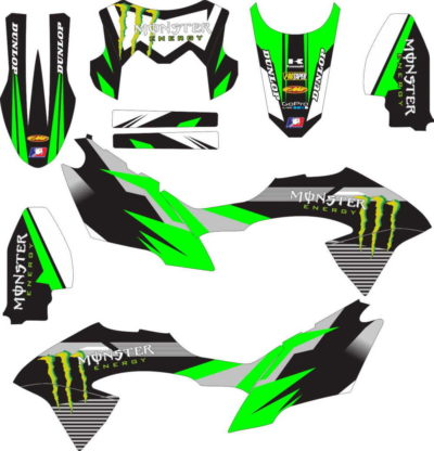 Stiker klx bf monster energy v2