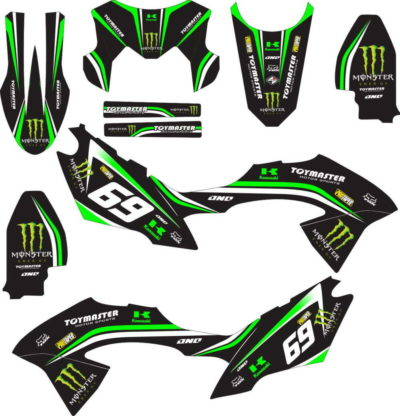 Stiker klx bf monster energy v3