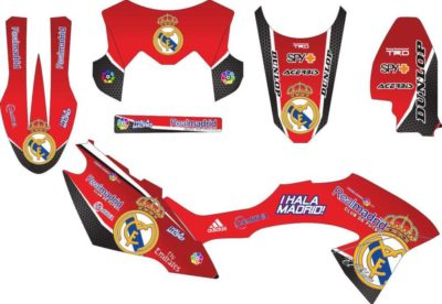 Stiker klx bf real madrid