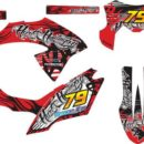Stiker klx bf tribal red