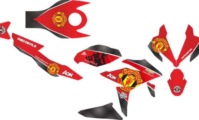Stiker new CBR150R FACELIT manchester united
