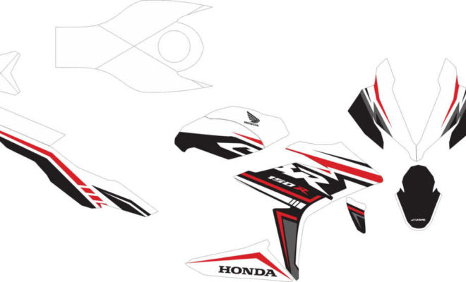 Stiker new CBR150R FACELIT simple decal white