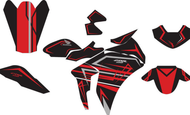 Stiker CBR 150 r simple decal v2