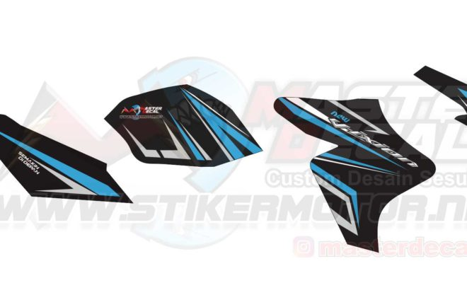 Stiker new Vixion striping 3 blue