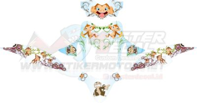 Stiker Beat POP monkey