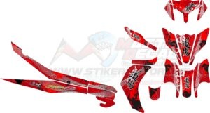 Stiker new jupiter z japan red