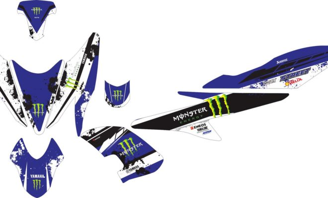 Stiker aerox 155 monster energy