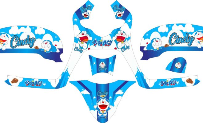 Stiker all new scoopy esp doraemon