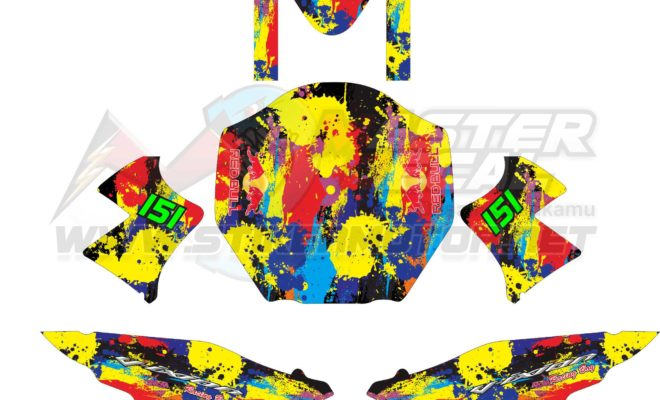 Stiker vixion abstract color