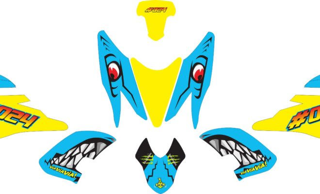 Stiker aerox 155 shark yellow v2