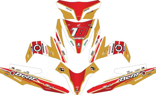Stiker all new beat esp gp gold
