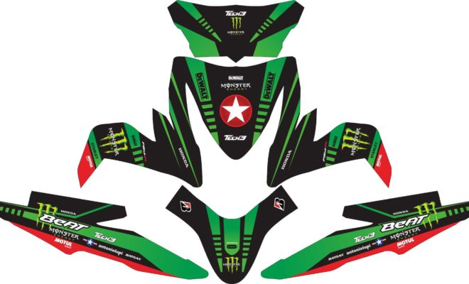 Stiker all new beat esp monster energy