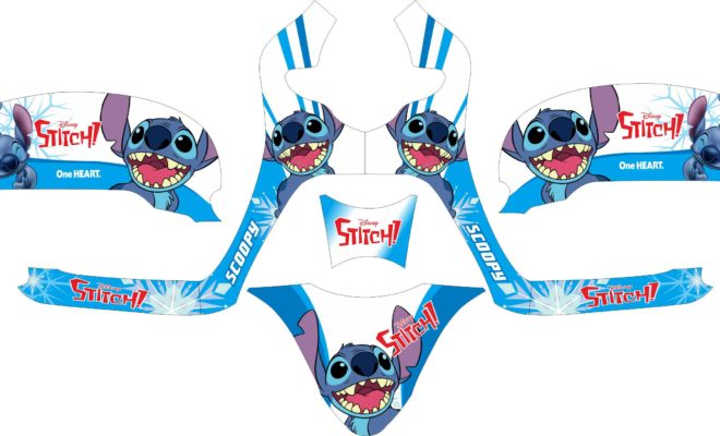 Stiker all new scoopy esp lillo stitch