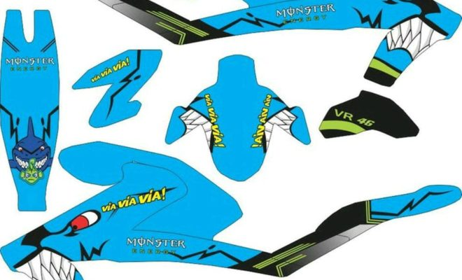 Stiker All New Vixion 2107 shark
