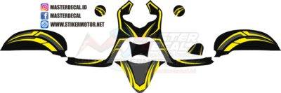 all new scoopy esp striping yellow