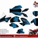 ALL NEW CB 150 R decal blue strips