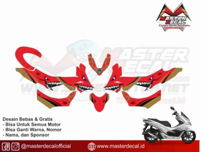 all new pcx shark red gold