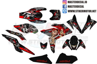 all new CBR 150 R FACELIT decal lady rose