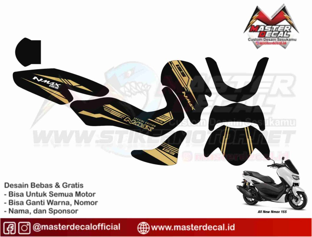 NMAX 2020 grafis gold simple
