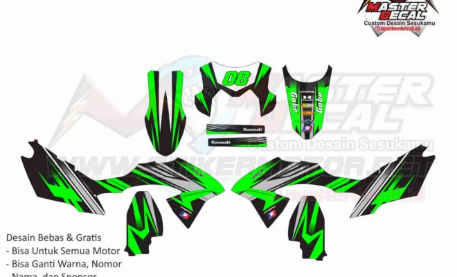 klx bf decal green